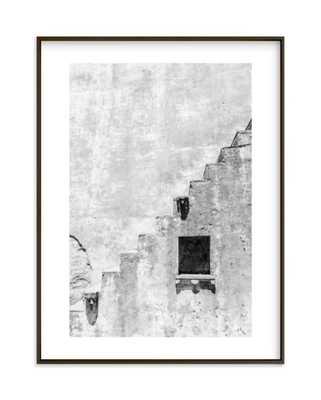 fortress - white border, matte black frame - Minted