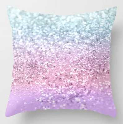 Unicorn Girls Glitter - Pillow Cover With Pillow Insert - Society6