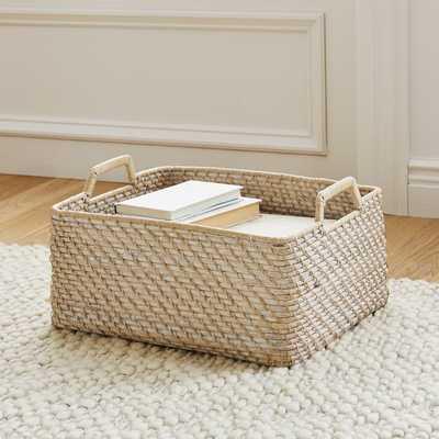 Modern Weave, Harvest Basket, Whitewash - West Elm