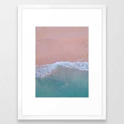 "Beach Wall Art - Coastal Blush - Framed Print Vector White - 20"" X 26"" - Society6"