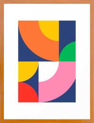 """Abstract Geometric 17 Framed Art Print, 20""""x26"""", Conservation Pecan Frame - Society6"""