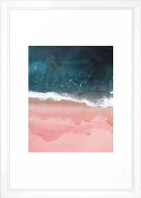 Turquoise Sea Pastel Beach III Framed Art Print - 15'' x 21'' - Vector white frame - With mat - Society6
