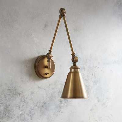 Waucoba 1-Light Swing Arm Lamp Warm Brass - Wayfair