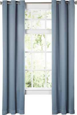 "Wayfair Basics Solid Blackout Grommet Single Curtain Panel - MINERAL - 95"" L - Wayfair"