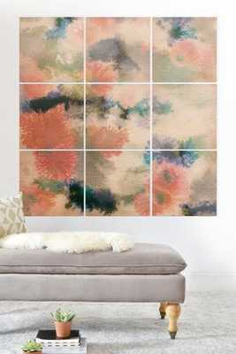 Corals  Wood Wall Mural - Wander Print Co.