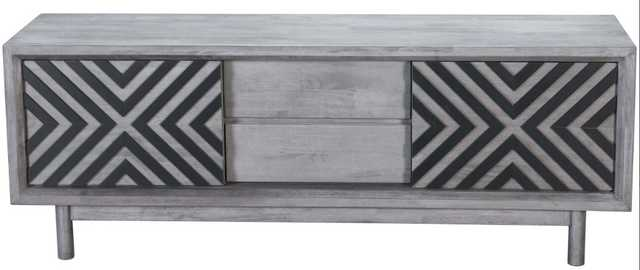 Raven TV Stand, Old Gray - High Fashion Home
