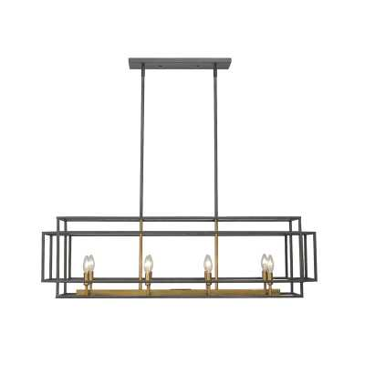 Bedingfield 8 - Light Kitchen Island Linear Pendant - Wayfair