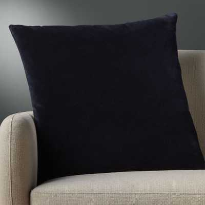 """""""23"""""""" leisure navy pillow with down-alternative insert"""" - CB2"""