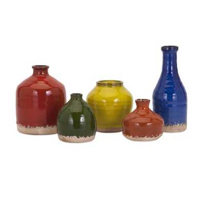 Cameron Mini Vase - Set of 5 - Mercer Collection