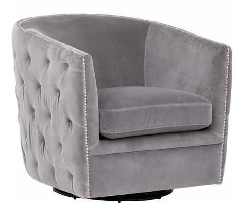 Gianna Leather Swivel Glider - High Fashion Home