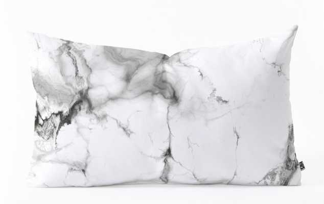 MARBLE Oblong Throw Pillow - Wander Print Co.