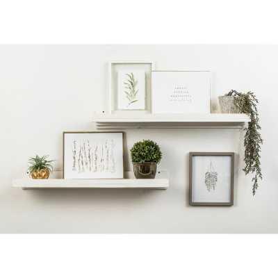 Tishie Floating Shelf 2 Piece Set / White - Wayfair