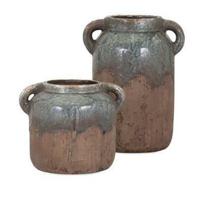 Bardot Small Blue Stone Ceramic Vase - Mercer Collection