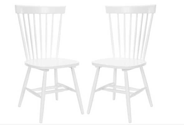 White Abigail Chairs, classic, Pair - One Kings Lane