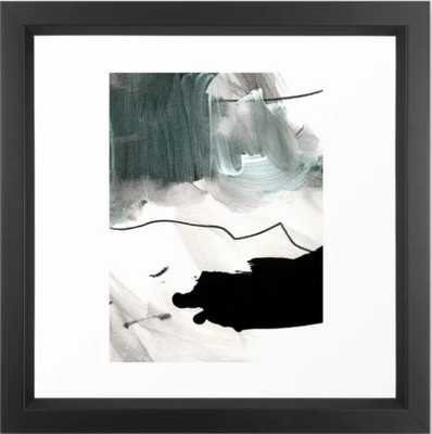 bs 4 Framed Art Print - Vector Black - 12 x 12 - Society6