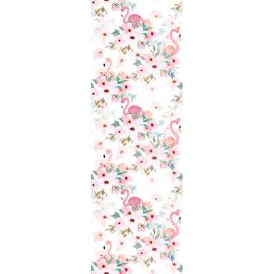 "Alta Removable Flamigos Peony Nursery 6.25' L x 25"" W Peel and Stick Wallpaper Roll - Wayfair"