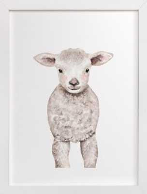 "Baby Animal Sheep Framed Art Print - 18"" x 24"" - White Wood Frame - Minted"