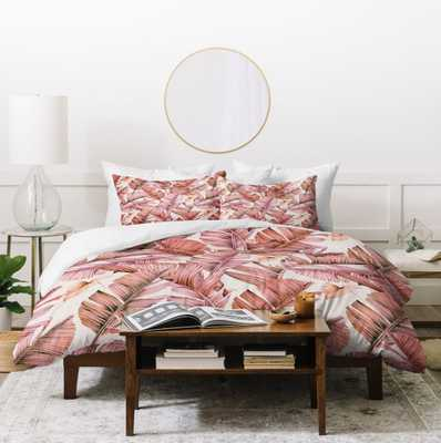JUNGLE PARADISE PINK Queen Duvet - Wander Print Co.