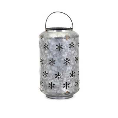 Homestead Christmas Medium Metal Snowflake Lantern - Mercer Collection