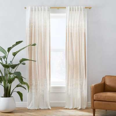 "Echo Print Curtain, Set of 2, Gold Dust, 96"" - West Elm"