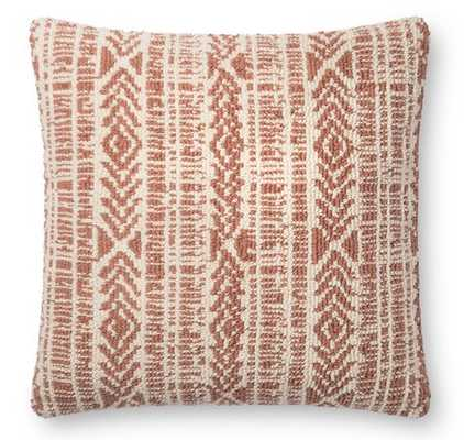 IONE PILLOW, RED AND IVORY - Lulu and Georgia