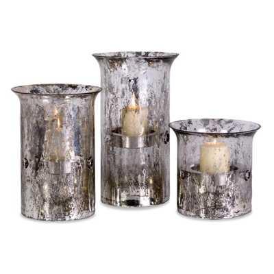 Mercury Candleholders - Set of 3 - Mercer Collection