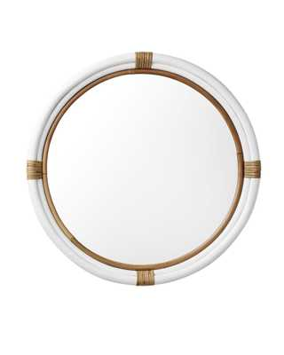 Montara Medium Mirror - White - Serena and Lily