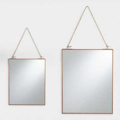 Copper Rectangular Metal Reese Mirror - 8'' x 10'' - World Market/Cost Plus