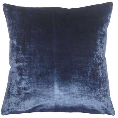 "Jasper Solid Pillow Blue - 18"" x 18"" - Linen & Seam"