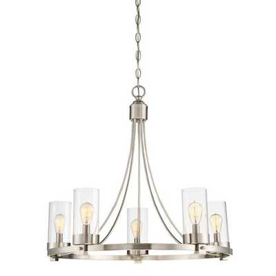 Agave 5-Light Wagon Wheel Chandelier - Wayfair