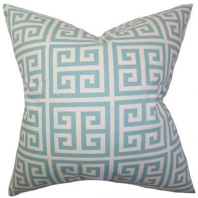 "Paros Greek Key Pillow - With Down Insert 20"" - Linen & Seam"