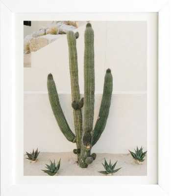 CABO CACTUS X White Framed Wall Art - Wander Print Co.