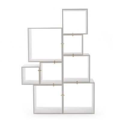 Assemblage Modular Bookcase in White by Seletti - Burke Decor