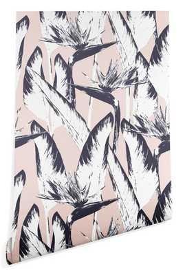 BOTANICAL BIRD OF PARADISE Wallpaper - Wander Print Co.