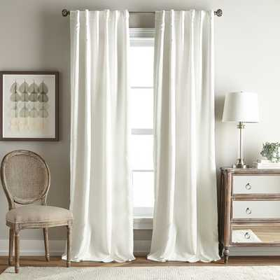 Simone 84-Inch Rod Pocket/Back Tab Room Darkening Window Curtain Panel in Ivory - 84in - Bed Bath & Beyond