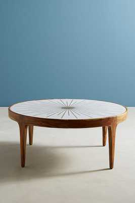 Brass Starburst Round Coffee Table - Anthropologie