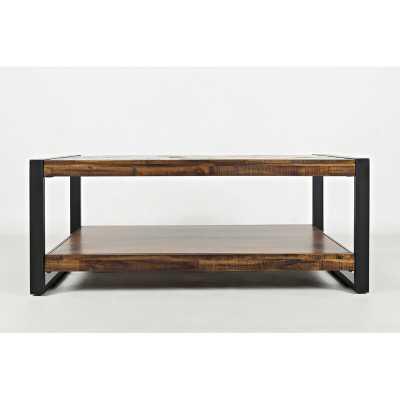 Telfair Sled Coffee Table with Storage - Wayfair