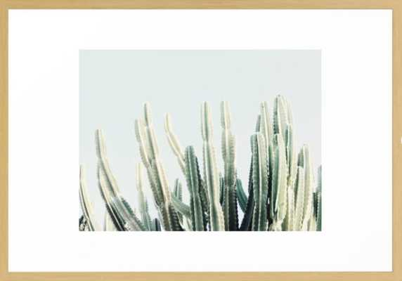Desert Framed Art Print, 15 x 21 scoop white - Society6