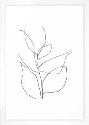 Minimalist Line Art Plant Drawing Framed Art Print - Society6
