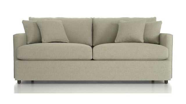 "Lounge II 83"" Sofa- Taft Cement - Crate and Barrel"