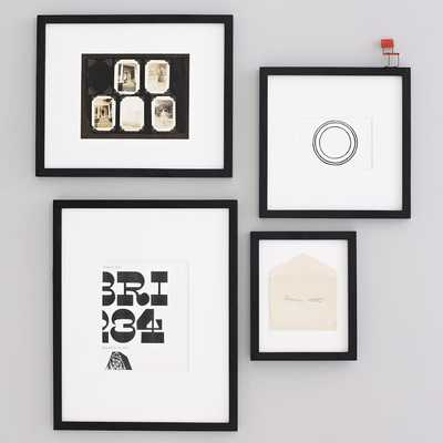Gallery Frames, Set Of 4, Assorted Sizes, Black Lacquer - West Elm