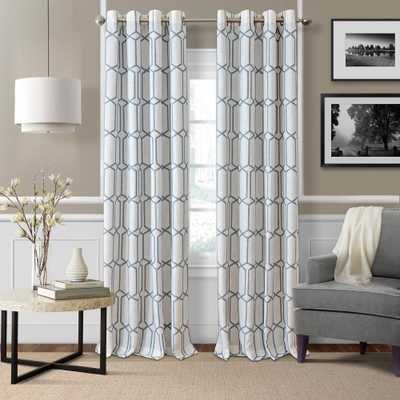 Elrene Kaiden Soft Blue Single Blackout Window Curtain Panel - 52 in. W x 95 in. L - Home Depot