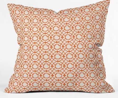 Burnt Orange Umbria Indoor Throw Pillow with Insert - Wander Print Co.