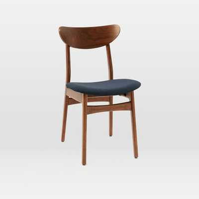 Classic Cafe Dining Chair, Nightshade, Mod Weave, Walnut, Individual - West Elm