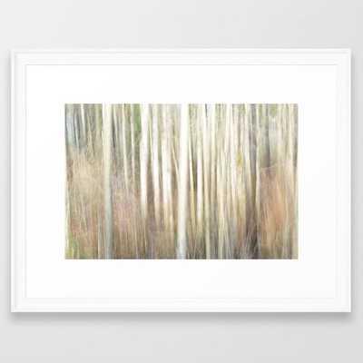 "Abstract Aspens Framed Art Print, 20""x26"" - Society6"
