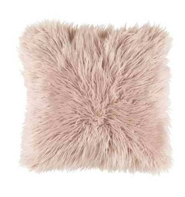 DEKLA FAUX FUR PILLOW, BLUSH with insert - Lulu and Georgia