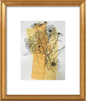 Meadow Flowers - 11x14 - gold leaf frame - Artfully Walls
