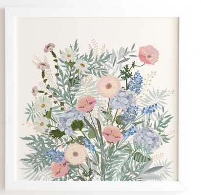 camille White Framed Wall Art - Wander Print Co.