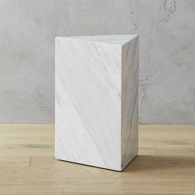 Tri White Marble Side Table - CB2