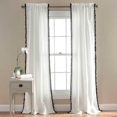 Triangle Home Fashions Pom Pom Window Curtain Panel by Lush Decor - Amazon